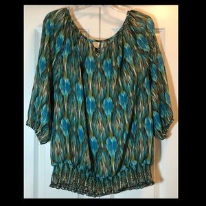 Alyx Woman Green and Blue Blouse